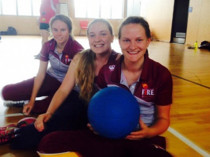 Goalball an eye-opener for QLD Fire Cricketers