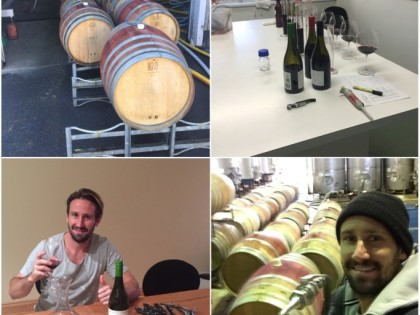 Nick Ward spends time in the wine making industry
